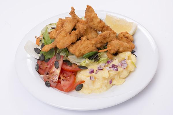Backhendl Salat